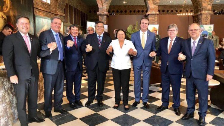 Além de Camilo Santana, participam do encontro os demais governadores da região. Foto: Reprodução/Redes Sociais