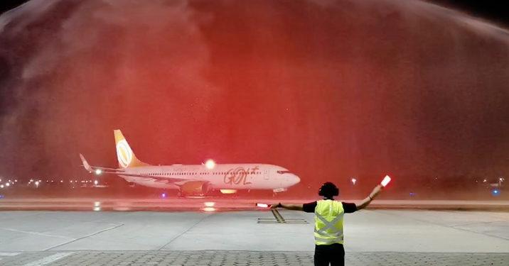 Batismo de aeronave marca início da gestão da Aena no Aeroporto de Juazeiro do Norte