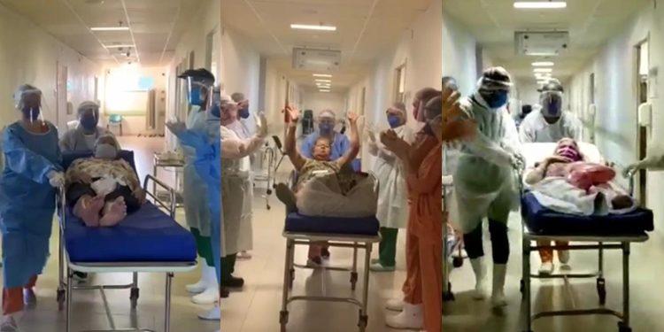 Três idosas recuperadas da Covid-19 recebem alta em Juazeiro do Norte; assista